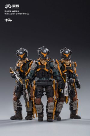 JoyToy Action Figure 10cm Scale 1/18 Ghost United 19th Legion Mechanical Collection Squad Troop Army Model Miniature