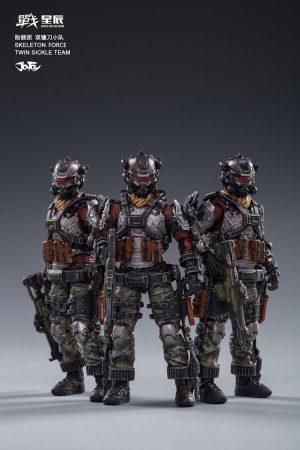 JoyToy Skeleton Forces Twin Sickle Team Squad Mechanical Collection Action Figure Robot Model Miniature