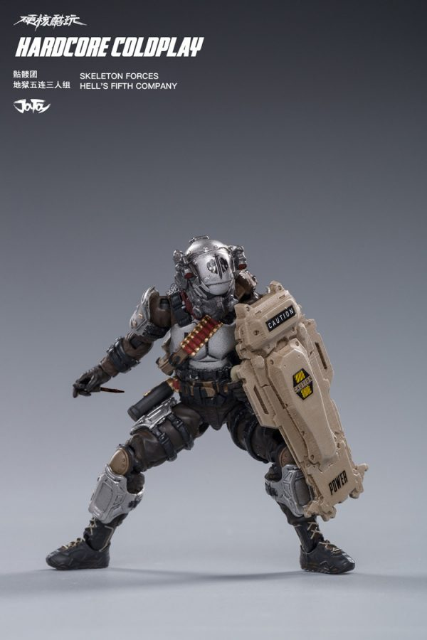 JoyToy Hardcore Coldplay Skeleton Forces Hell's Fifth Company Scale 1/18 Squad Action Figure Mechanical Collection Robot Miniature Model Active