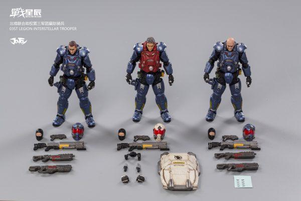 JoyToy 03st Legion-Steel Spear Interstellar Trooper Mechanical Collection Action Figure Robot Model Miniature