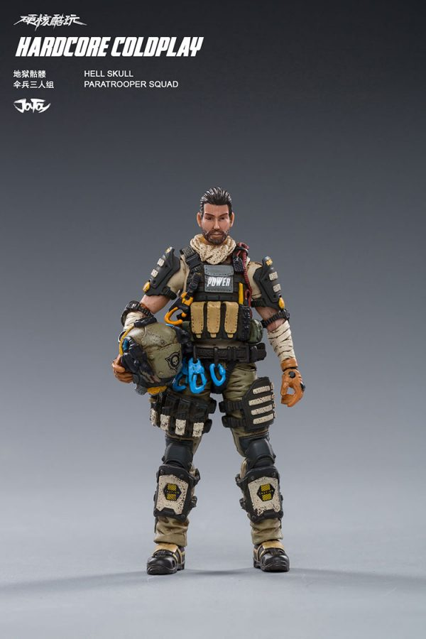 JoyToy Hardcore Coldplay Hell Skull Paratrooper Squad Scale 1/18 Action Figure Mechanical Collection Robot Miniature Model