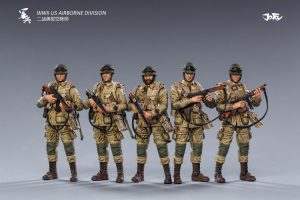 JoyToy Action Figure 10cm Scale 1/18 WWWII US Army Airborne Division Mechanical Collection Squad Troop Army Model Miniature