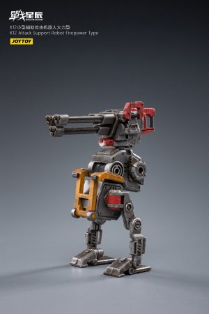 JoyToy Action Figure 8cm Scale 1/18 Battle for the Stars X12 Attack-Support Robot (Firepower Type) Mechanical Collection Miniature Model