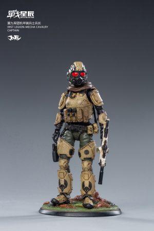 JoyToy Action Figure 10cm Scale 1/18 09st Legion Mecha Cavalry Captain Mechanical Collection Squad Troop Army Model Miniature