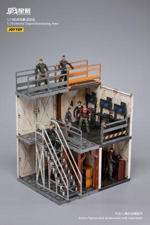 JoyToy Action Figure 23cm Scale 1/18 Battle for the Stars Mecha Depot Monitoring Area Diorama Model Miniature