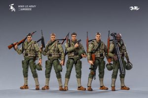 JoyToy Action Figure 10cm Scale 1/18 WWWII US Army Mechanical Collection Squad Troop Army Model Miniature