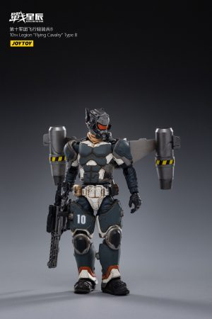 JoyToy Action Figure 10cm Scale 1/18 10th Legion Flying Cavalry Type B Mechanical Collection Squad Troop Army Model Miniature