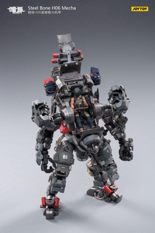 JoyToy Action Figure 23cm Scale 1/24 Dark Source Steelbone Heavy Combat Machine Armor H06 With Pilot Mechanical Collection Army Model Miniature