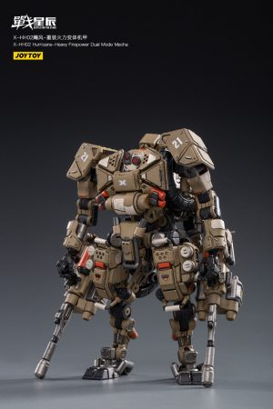 JoyToy Action Figure Battle for the Stars X-HH02 Hurricane Heavy Firepower Dual Mode - Sand