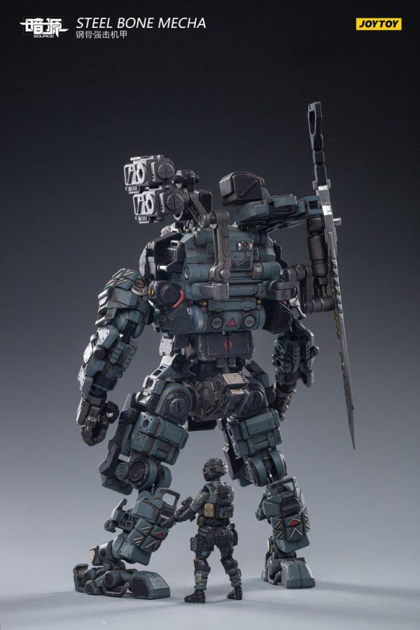 JoyToy Action Figure Dark Source Steel Bone Armour - Grey with pilot