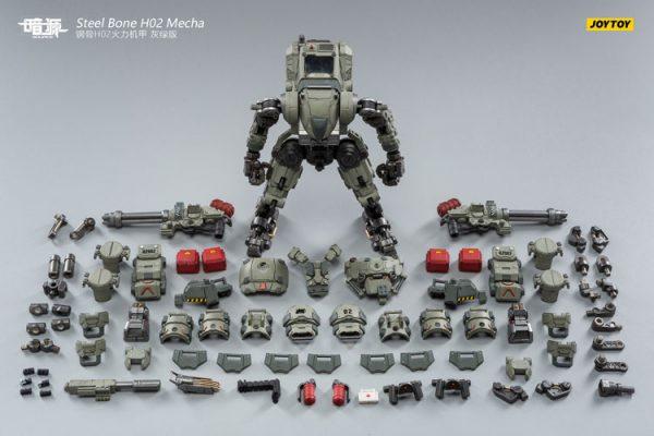 JoyToy Action Figure Dark Source Steelbone Firepower Mecha H02 Grey-Green