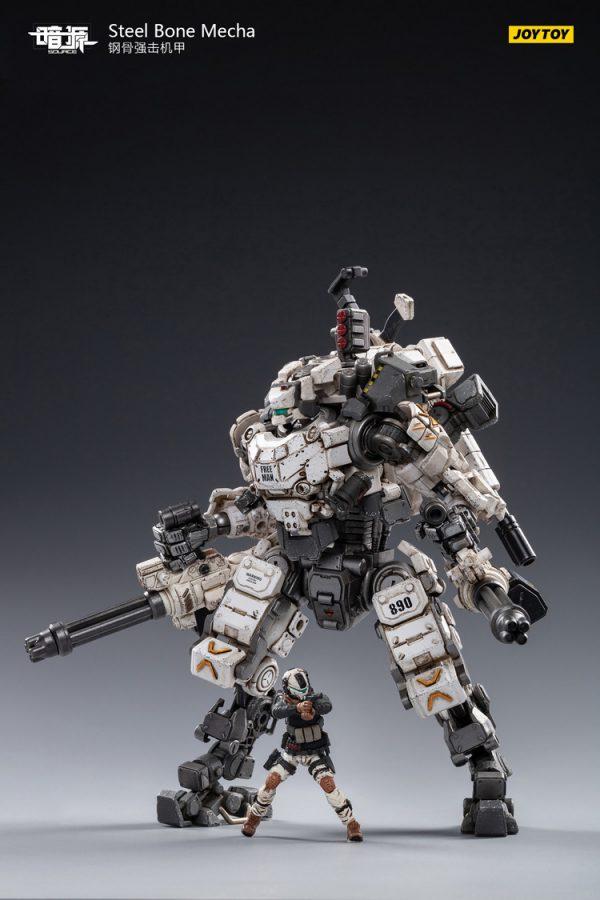 JoyToy Action Figure Dark Source Steel Bone Mecha - White